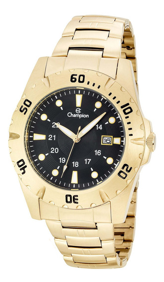 Relógio Champion Masculino Dourado Garantia Nf Ca31533u