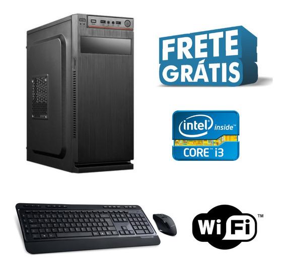 Pc Novo Core I3 8gb Ssd480 Wifi Windows 10 + Frete Grátis!