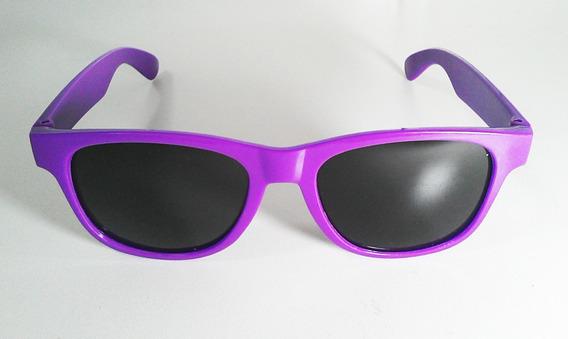 Óculos Feminino Verão Roxo Lente Preta Praia, Férias