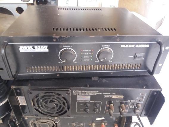 Amplificador De Potencia Mark Áudio Mk6200 Original