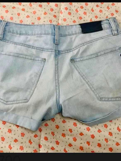 Lacoste Short Jean Mujer Talle M