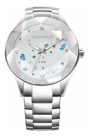 Relógio Technos Feminino Crystal 2039avdtm/1k Prata Oferta