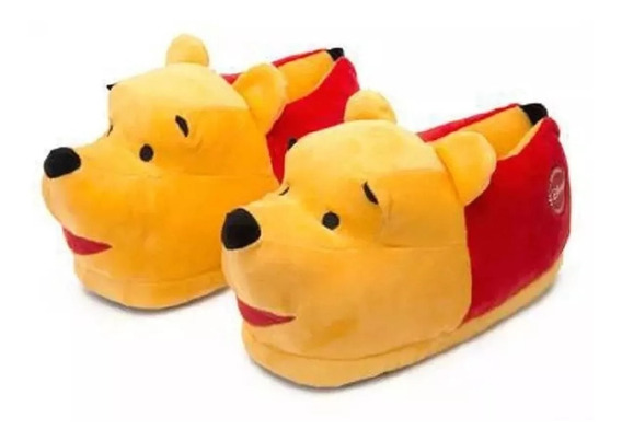 Pantufa Ursinho Pooh 3d - Ricsen Disney - Anti Derrapante