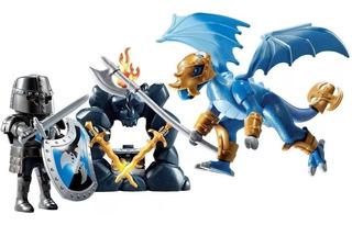 Playmobil 5657 Maletin Knights Caballero Dragon Alas Valija