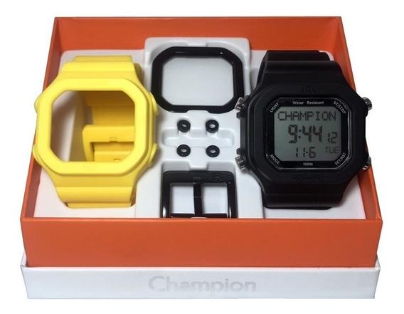 Relógio Champion Yot Original Cp40180x Amarelo Preto