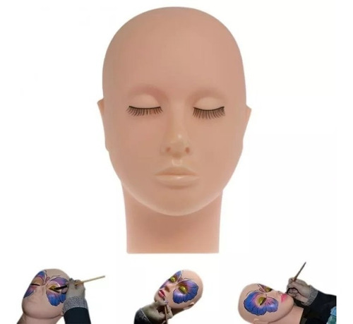 Imagem 1 de 4 de Cabeça De Silicone Para Cílios, Micropigmentação E Maquiagem