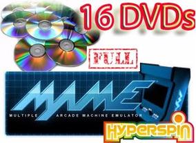 Arcade Mame 0 153 + Hyperspin 16 Dvds Frete Gratis + Brindes