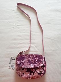 Bolsa Rosa Veludo Paete Puc Linda Original