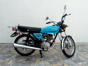 Moto Honda Cg125 Ano 1982 Azul Para Colecionador