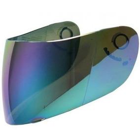Viseira Azul Iridium - Mod Texx Carbon