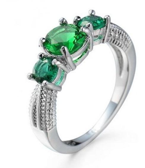 Anel C/ Pedras Verdes Qualidade 5124524234