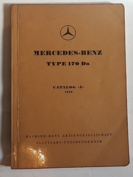 Manual Do Proprietário Mercedes-benz Type 170 Da 1952