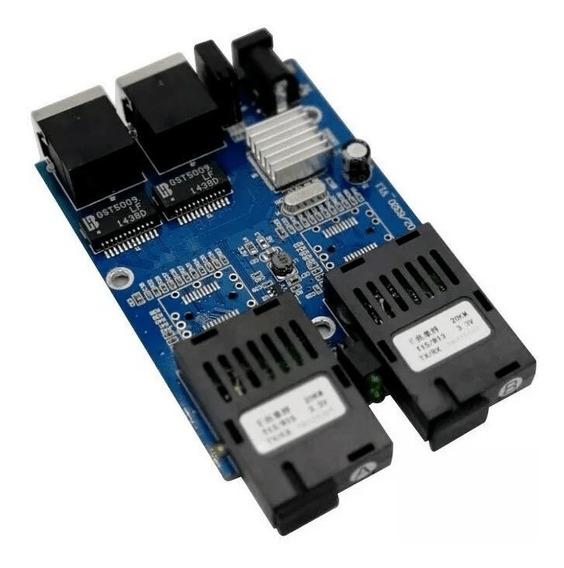 Switch Kit 5x Placa Rede Metro Giga Gigabit Gbic A B-2p Rj45