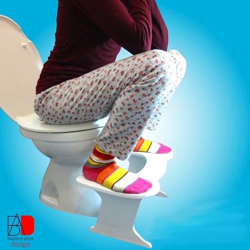 Imagen 1 de 8 de Banquito Para Inodoro Ergonómico Fisiológico Mejora Postura!
