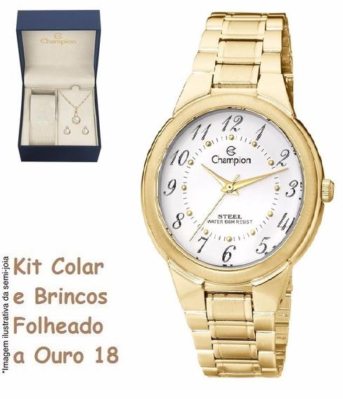 Relógio Champion Feminino Ca20223h + Kit Brinde + Nf