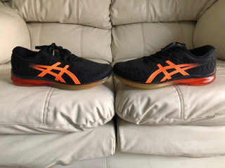 Tenis Asics Gel Black Orange Del 27.5mx