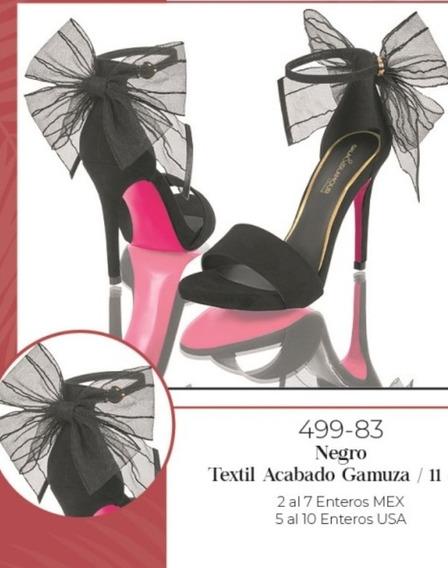 Zapatilla Negro Acabado Gamuza 499-83 Cklass P-v 2020