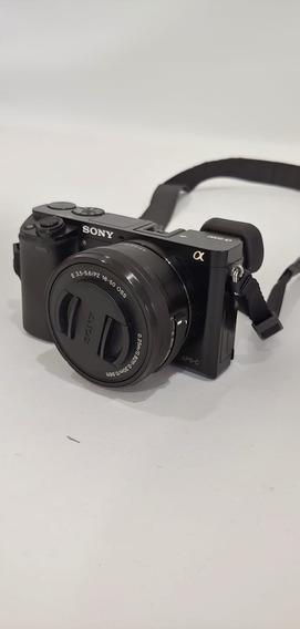 Câmera Sony Mirrorless Alpha A6000 + Lente Do Kit 16-50mm