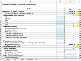 Planilha Demonstrativo De Resultado Dre - Pronta Em Excel