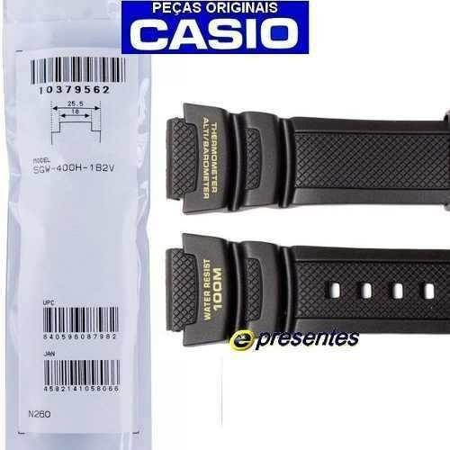 Pulseira Casio Sgw-400 Preta Sgw-400h-1b2 Peça Genuina