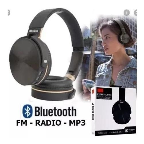 Fone De Ouvido Bluetooth Jb950 Head Fone Cartão Sd Rádio Fm