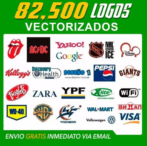 82 Mil Logotipos Vectorizados Serigrafía Diseño Vector