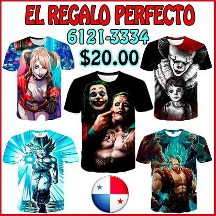 T-shirt De Dragon Ball El Joker Venom Y Otros Personajes