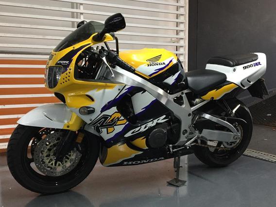 Honda Cbr 900 Rr/ Amarela, Preto E Branca
