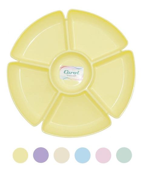 Copetinero Plástico Picadas Mani Con 6 Divisores Carol Soft