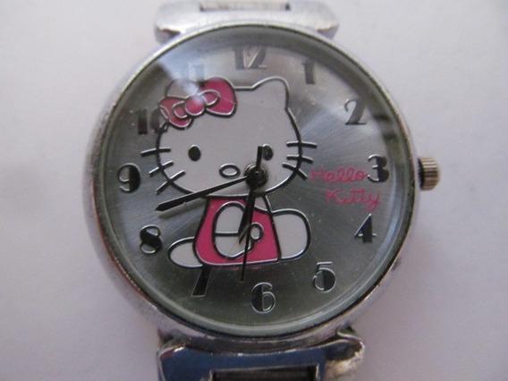 Lindo Relógio Hello Kitty Em Bom Estado Sem Bateria