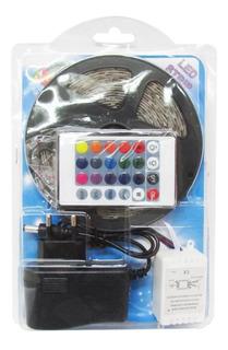 Cinta Tira Luces Multicolor 300 Led 5 Metros Rgb Control Dj