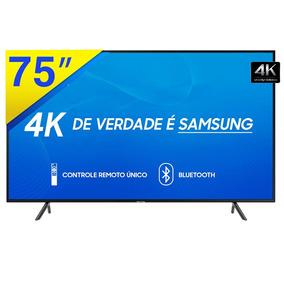 Smart Tv Led 75 Samsung 4k Uhd Com Conversor Digital, Wifi