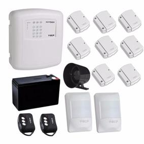 Kit Alarme Residencial Ecp + Sensores Sem Fio Magneticos Ivp