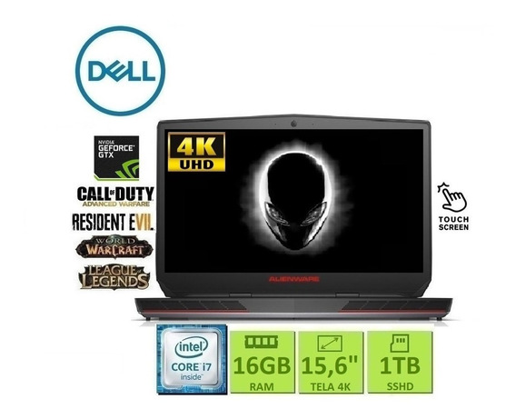 Dell Alienware| I7 | 16 Gb| Tela 4k (touch)| Gforce Gtx
