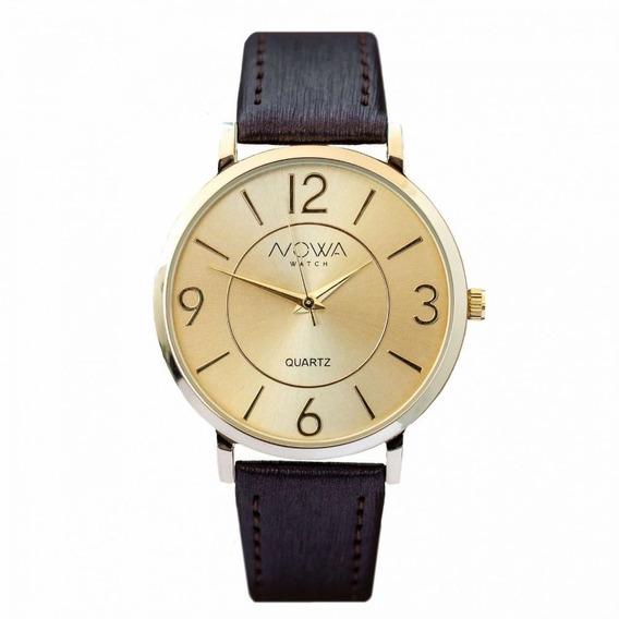Relógio Feminino Nowa Preto Nw1413k Com Kit Colar E Brinco