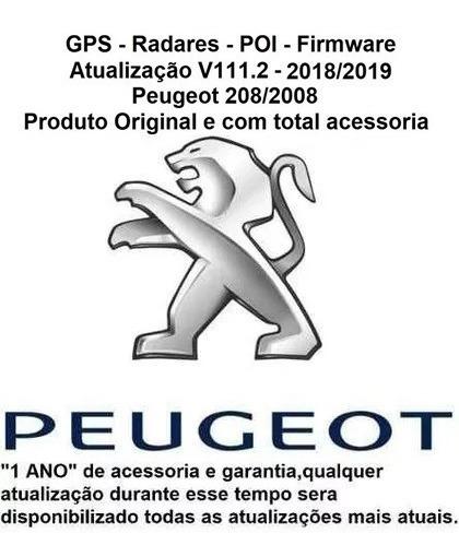 Atualização Gps + Mapas + Rads + Poi Peugeot 208/2008 V111.2