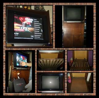 Tv 29 +mueble C/cama Plegable - Apto P/convertir Tv En Smart