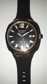 Relógio Technos Masculino Preto Com Dourado