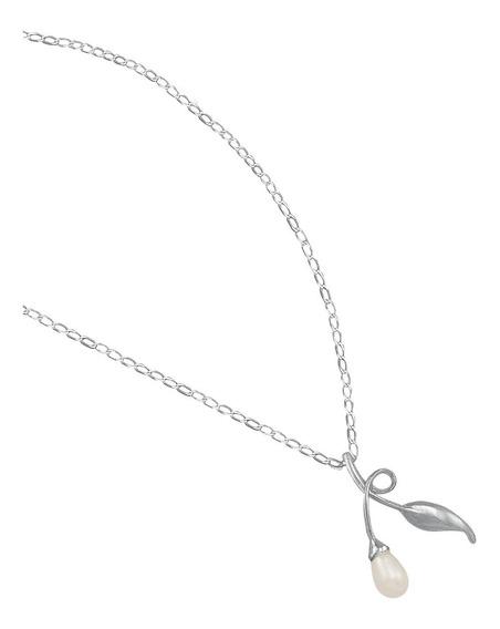 Gargantilla De Plata Con Perla Mod. 564e