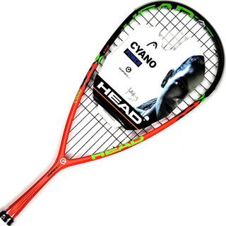 1 Pelota+ Funda + Raqueta Squash Head Cyano 135 Graphene Xt