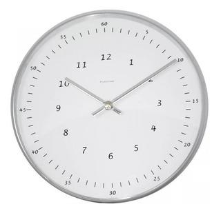 Reloj De Pared Eurotime 210/6047.01 Blanco/inoxidable