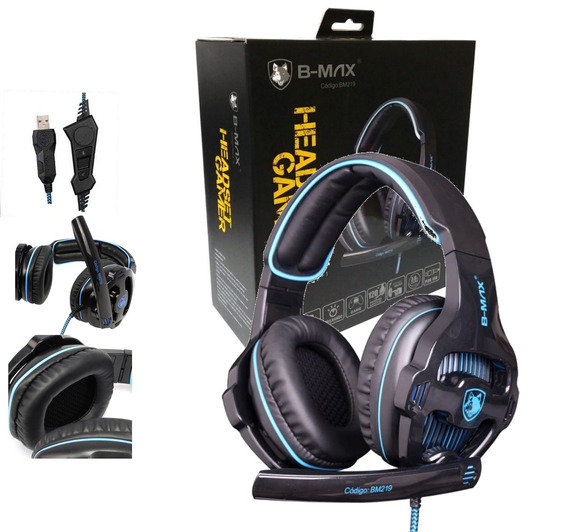 Headset Gamer Usb 7.1 Bm219 - Pc Somente Chat No Ps3 E Ps4