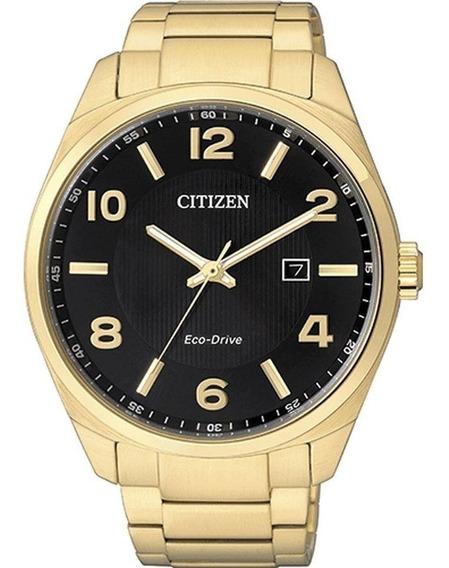 Relógio Masculino Citizen Dourado Tz20555u Eco Drive Solar