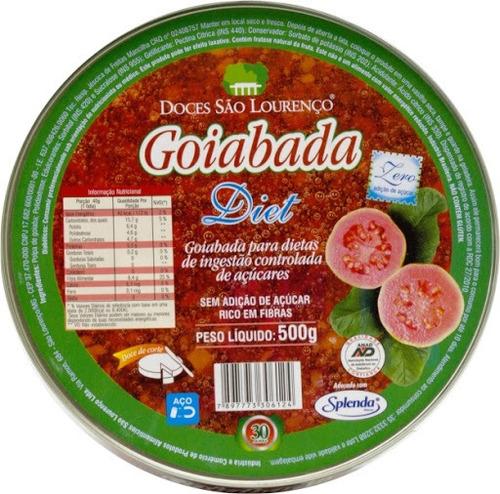 Imagem 1 de 1 de Goiabada Diet 500g Lata São Lourenço