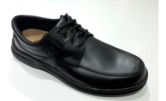 Zapato De Cuero Talle Grande Free Comfort 6042 Negroy Marron
