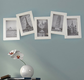 Paquete 3 Portarretratos De 5 Fotos Blanco Envio Gratis