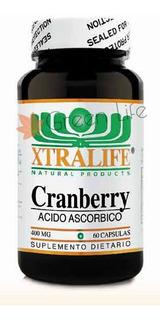 Cranberry 400mg + Vitamina C X60 Cápsulas Xtralife Americano