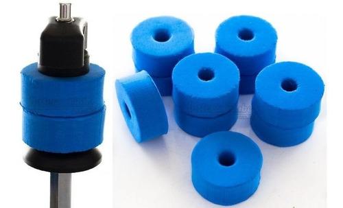 Feltros Rubber Wheel Kit Com 10 Feltros (azul) Para Estante