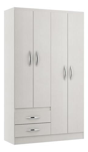 Imagen 1 de 6 de Mueble Ropero Blanco Multicolor 4 Puertas Modelo 2074.01