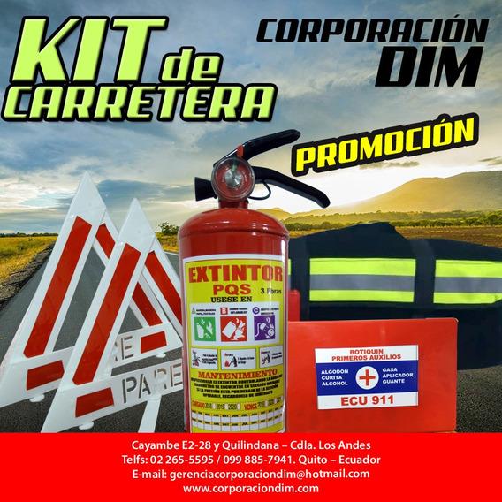 Kit De Carretera 20 Usd Con Extintor Recargable Envío Gratis